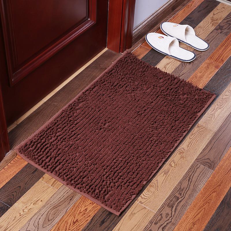 KCASA KC-333 40x60cm Chenille Fine Hair Soft Mat Machine Washable Bathroom Anti Slip Absorbent Carpet Door Mat