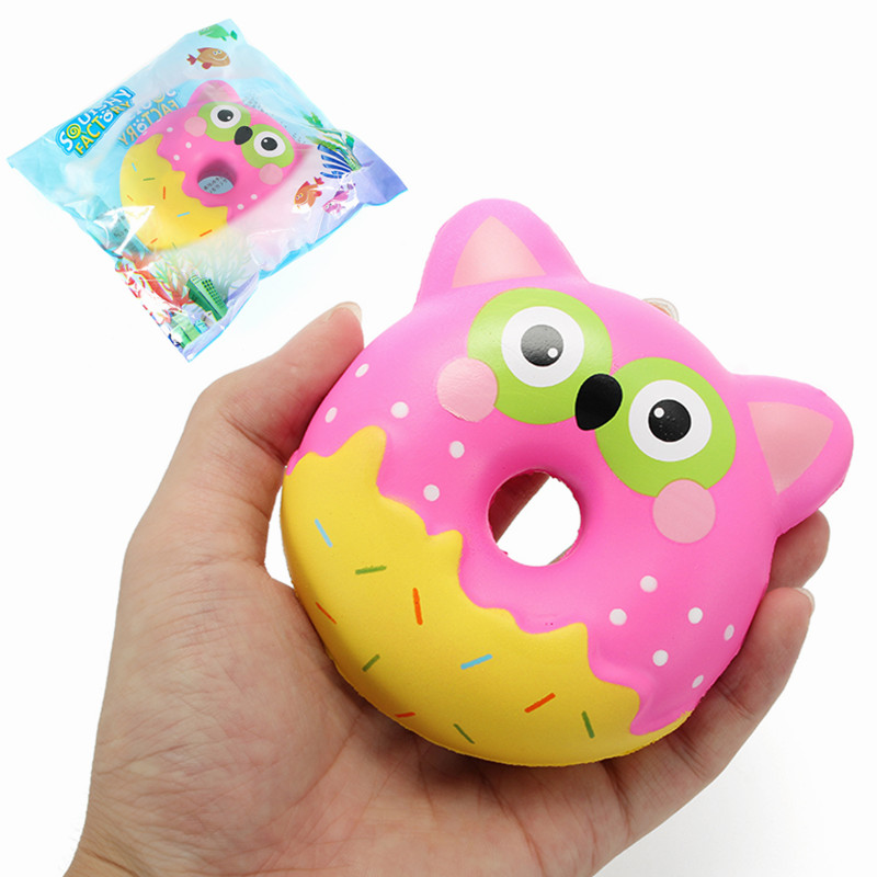 Donut Squishy Collection : Squishy Factory Owl Donut 10cm Soft Slow Rising With Packaging Collection Gift Decor Toy Alex NLD