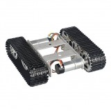 T100 9V Aluminum Alloy Silver Smart Crawler Chassis Car Kit For Arduino 5KG Max Load With Chassis