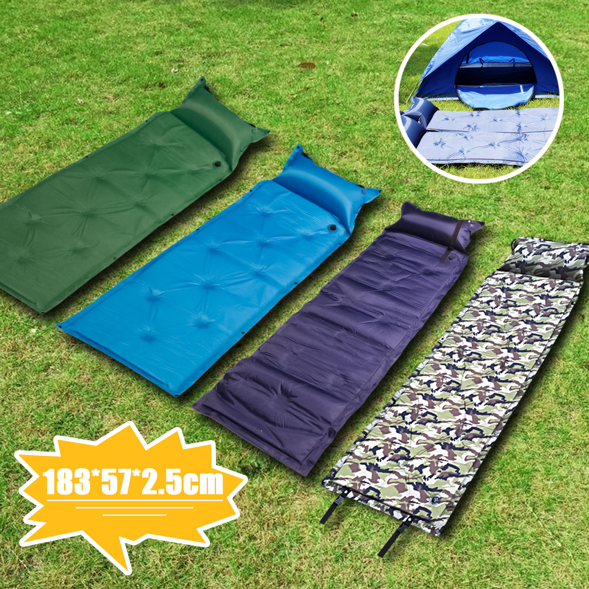 Inflatable Bed Netherlands: IPRee® 183x57x2.5cm Self Inflatable Air Mattress Camping