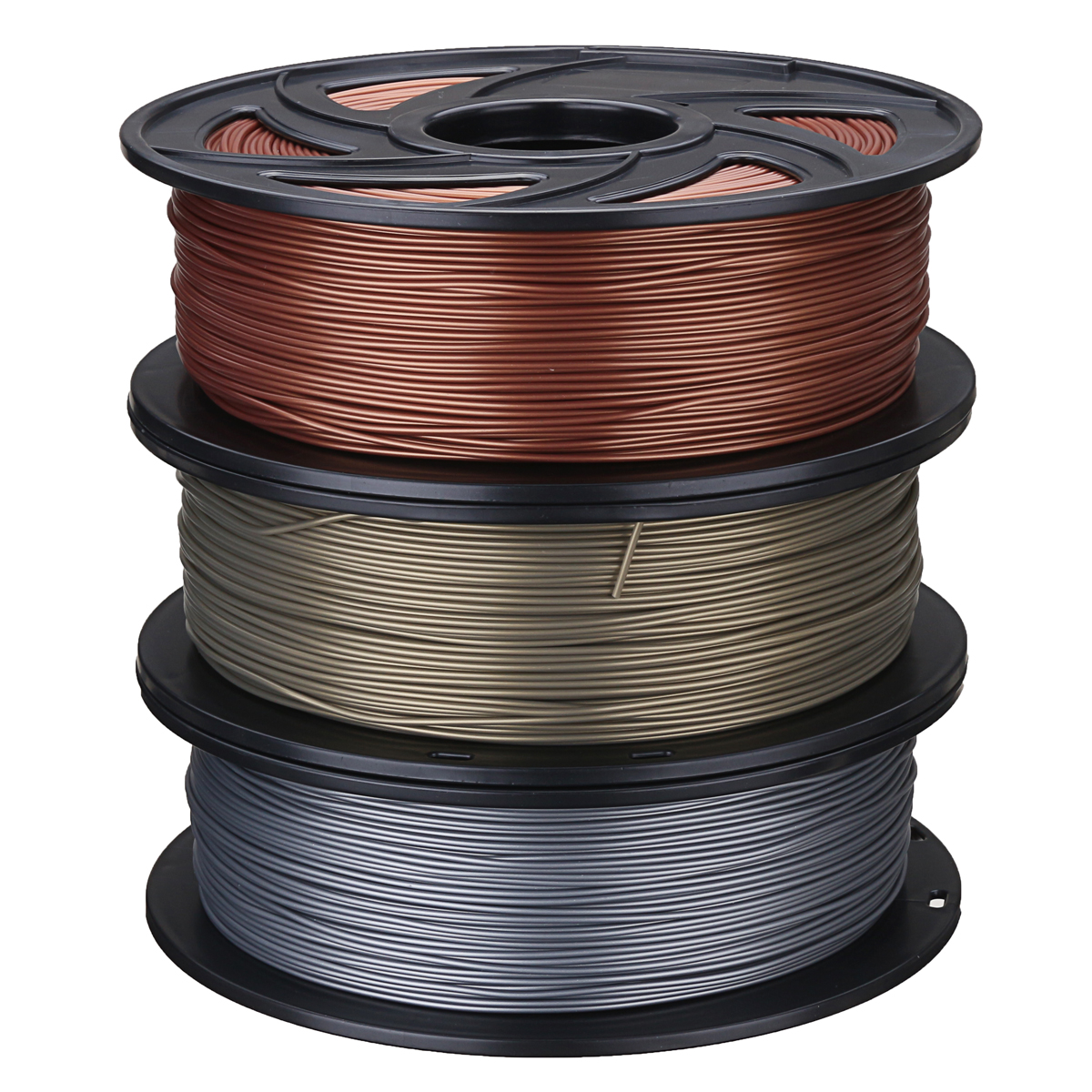 Aluminum/Bronze/Copper 1.75mm 1kg Flexible PLA Filament