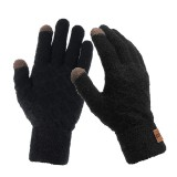 Men Winter Outdoor Sport Windproof Waterproof Warm Lattice Knit Gloves Touch Screen Cycling Gloves