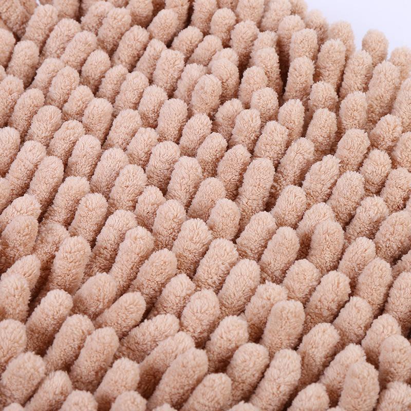 KCASA KC-334 40x60cm Chenille Rough Thick Hair Soft Mat Machine Washable Bathroom Anti Slip Absorbent Carpet Door Mat