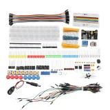 Electronic Components Junior Kit With Resistor Breadboard Power Supply Module For Arduino With Plastic Box Package