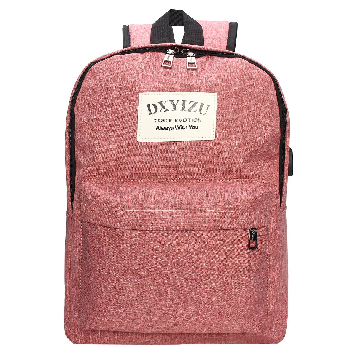 Ipree Men Women Usb Charging Backpack Laptop Bag Travel