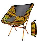IPRee™ Portable Camping BBQ Folding Chair Ultralight Aluminum Alloy Backrest Max Load 150kg