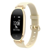 S3 0.96 inch OLED Display Bluetooth Sports Smart Bracelet, IP67 Waterproof, Support Heart Rate Monitor / GPS Trajectory / Pedometer / Calls Remind / Sedentary Reminder / Remote Capture / Distance, Compatible with Android and iOS Phones (Gold)