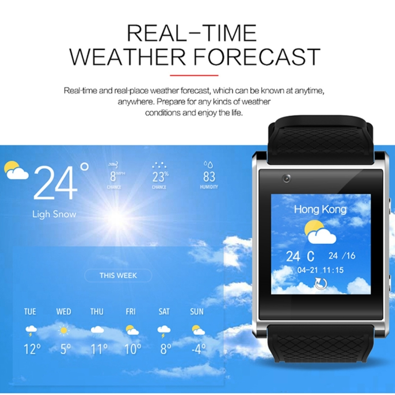 X11 Smart Watch Phone, 512MB + 4GB, 1.54 inch IPS Touch Screen, MTK6580 Quad Core 1.3GHZ, Network: 3G, Support Sleep Monitoring, Precise Step Calculation, Camera, GPS, Bluetooth (Black)