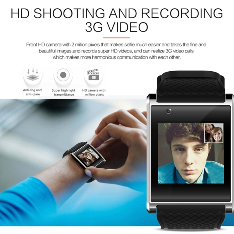 X11 Smart Watch Phone, 512MB + 4GB, 1.54 inch IPS Touch Screen, MTK6580 Quad Core 1.3GHZ, Network: 3G, Support Sleep Monitoring, Precise Step Calculation, Camera, GPS, Bluetooth (Red)