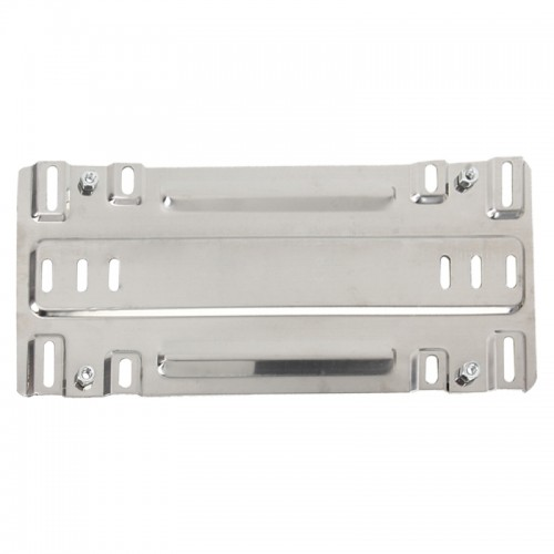 Stainless Steel License Plate Bracket Vehicle License Plate Bracket Bottom Plate Automobile License Plate Conversion Frame (Silver)