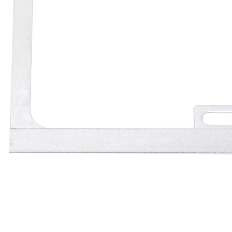 2 PCS Car License Plate Frames Car Styling License Plate Frame Magnesium Alloy Universal License Plate Holder Car Accessories (Silver)