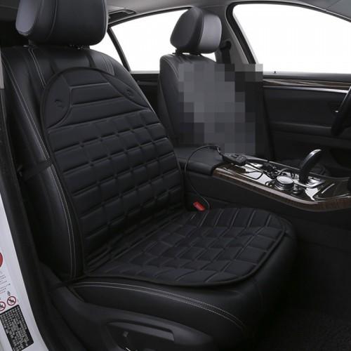 12V Heated Car Seat Cushion Cover Seat Heater Warmer Winter Car Cushion Car Driver Heated Seat Cushion (Black)