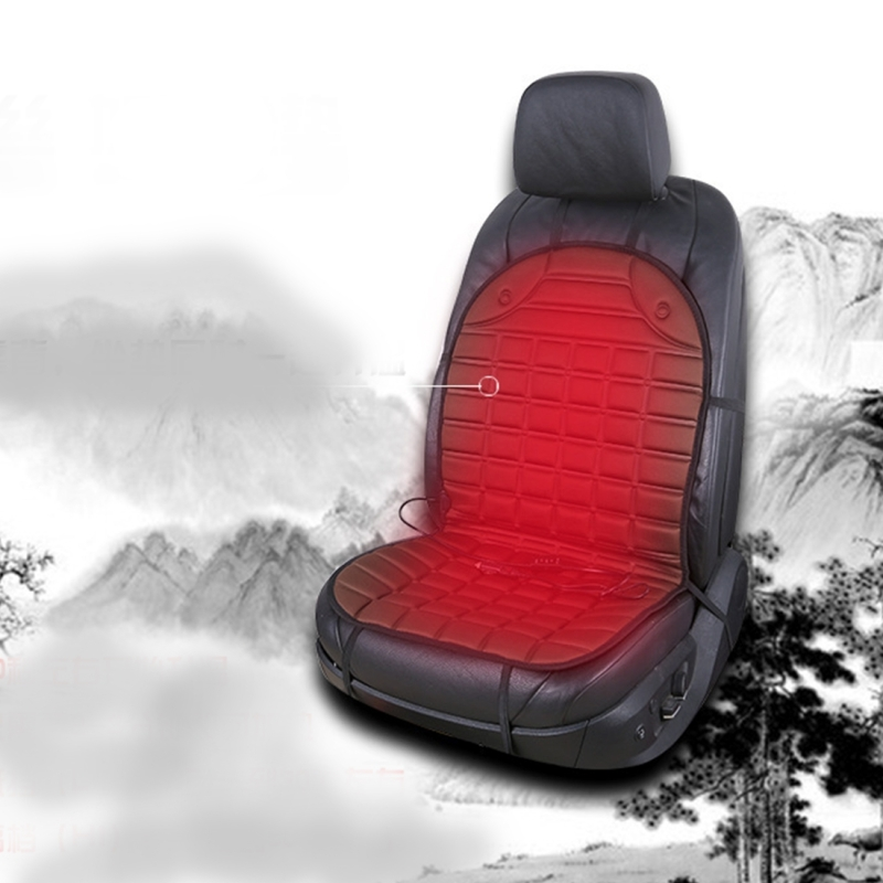 12V Heated Car Seat Cushion Cover Seat Heater Warmer Winter Car Cushion Car Driver Heated Seat Cushion (Black)