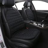 12V Heated Two-seater Car Seat Cushion Cover Seat Heater Warmer Winter Car Cushion Car Driver Heated Seat Cushion (Black)