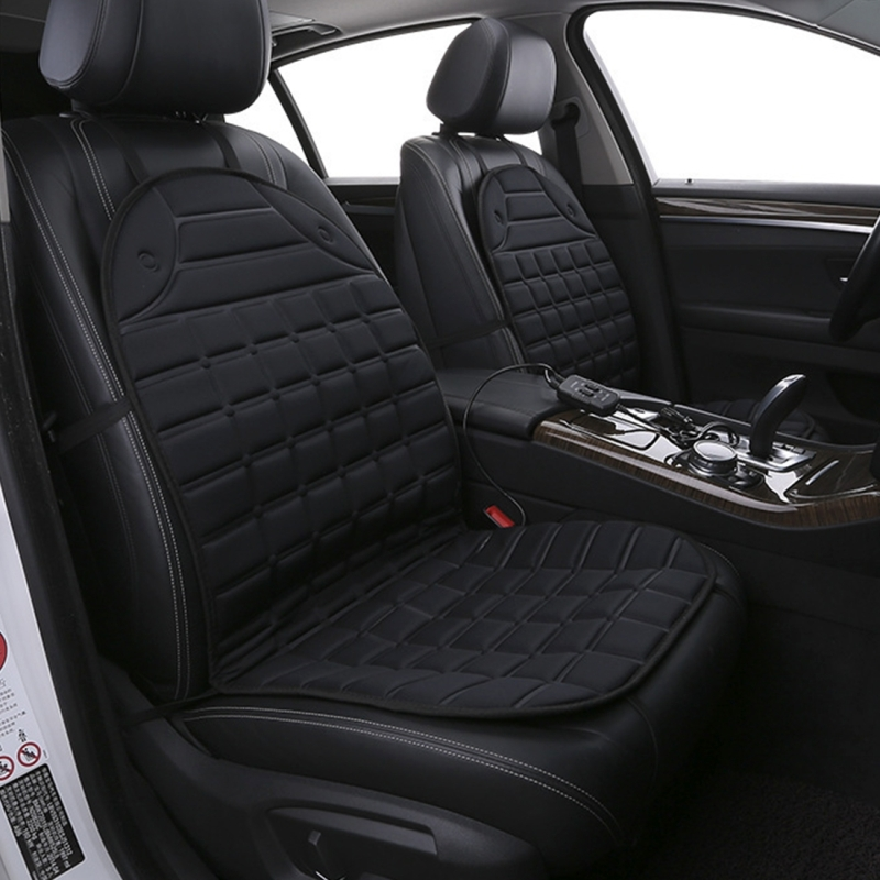 12v heated two seater car seat cushion cover seat heater warmer winter car cushion car driver. Black Bedroom Furniture Sets. Home Design Ideas