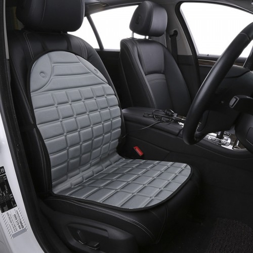 12V Heated Car Seat Cushion Cover Seat Heater Warmer Winter Car Cushion Car Driver Heated Seat Cushion (Grey)