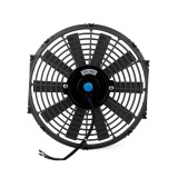 12V 80W 12 inch Car Cooling Fan High-power Modified Tank Fan Cooling Fan Powerful Auto Fan Mini Air Conditioner for Car (Black)