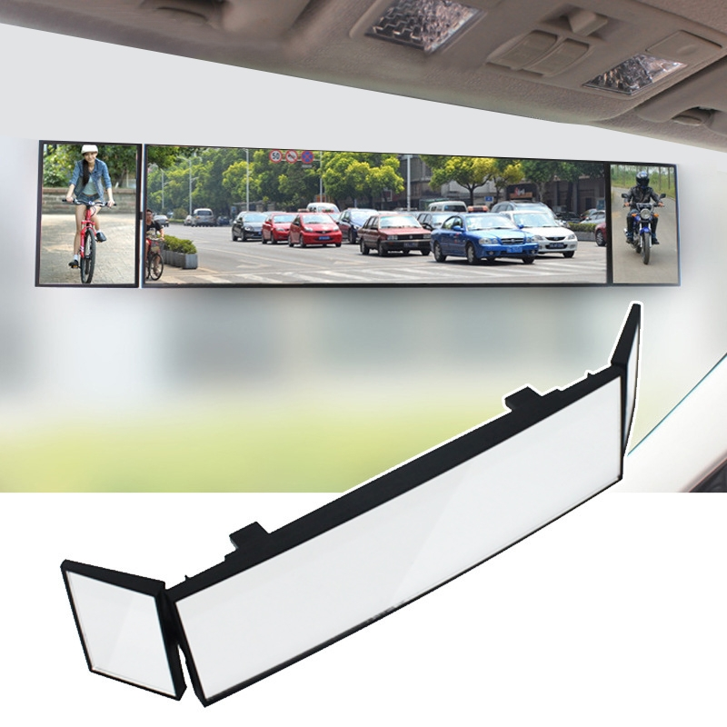 SHUNWEI Large Car Three-Fold Curve Surface Rear View Mirror Reverse Wide Angle Adjustable Angle Auxiliary Blind Area Retroreflector Reversing Wide-angle Lens