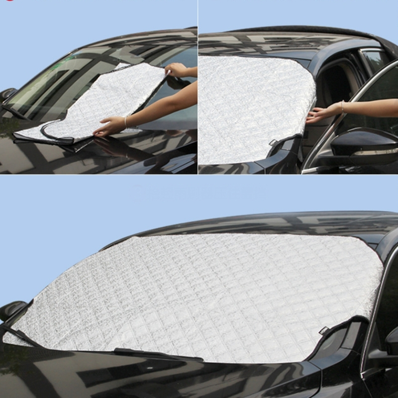 Car Windshield Sun Shade Protective Cover Winter Car Snow Shield ... 70c9b00f4b6