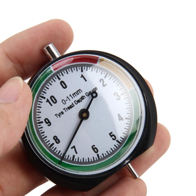 Car Wheel Tire Pressure Tread Depth Gauge Meter Pointer Indicator Measure Device