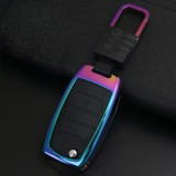 A Style Car Auto Square Buckle Key Shell Colorful Ring Zinc Alloy Car Chain Shell Car Key Shell Case for PAOJUN