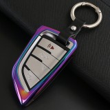 A Style Car Auto Round Buckle Key Shell Colorful Ring Zinc Alloy Car Chain Shell Car Key Shell Case for BMW