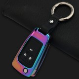 A Style Car Auto Round Buckle Key Shell Zinc Alloy Car Chain Shell Car Key Shell Case Key Ring for Buick