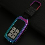 D Style Car Auto Square Buckle Key Shell Colorful Ring Zinc Alloy Car Chain Shell Car Key Shell Case for Honda