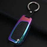 C Style Car Auto Round Buckle Key Shell Colorful Ring Zinc Alloy Car Chain Shell Car Key Shell Case for Peugeot