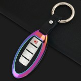 Car Round Buckle Key Shell Zinc Alloy Car Key Shell Case Key Ring for Dongfeng Nissan
