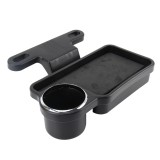 Car Seat Storage Tray Multi-function Auto Rear Seat Organizer Holder Drink Food Cup Tray