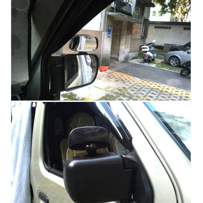 Car Blind Spot Side View Wide Angle Convex Mirror Vision Collection Side View Mirror Blind Spot Mirror (Black)