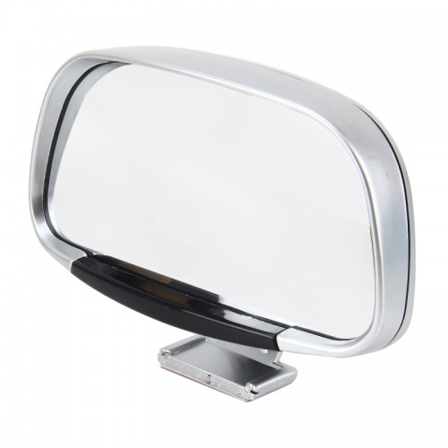 Car Blind Spot Side View Wide Angle Convex Mirror Vision Collection Side View Mirror Blind Spot Mirror (Silver)