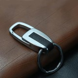 Single Ring Metal Leather Key Chain Metal Car Key Ring Multi-functional Tool Key Holder Key Chains Rings Holder For Car Key Rings