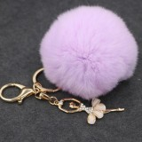 Ballet Golden Keychain Key Holder Key Chains Rings Holder Rex Rabbit Car Bag Pendant Fashion Bag Ornaments Pendant