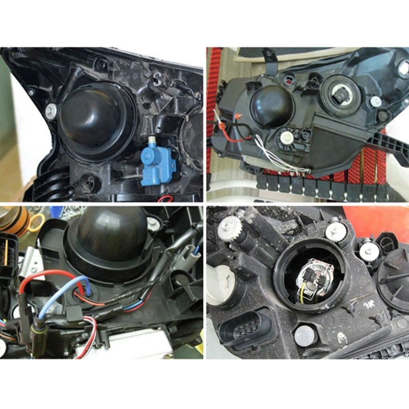 2 PCS Universal Car LED Headlight HID Xenon Lamp Silicone Dust Cover Seal Caps LED Headlight Seal Dust Seal Cover Dust Cover for H1 H3 H7 H11 / H8 9005 / 9006