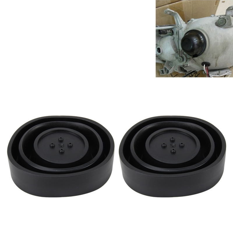2 PCS Universal Car LED Headlight HID Xenon Lamp Silicone Dust Cover Seal Caps LED Headlight Seal Dust Seal Cover Dust Cover