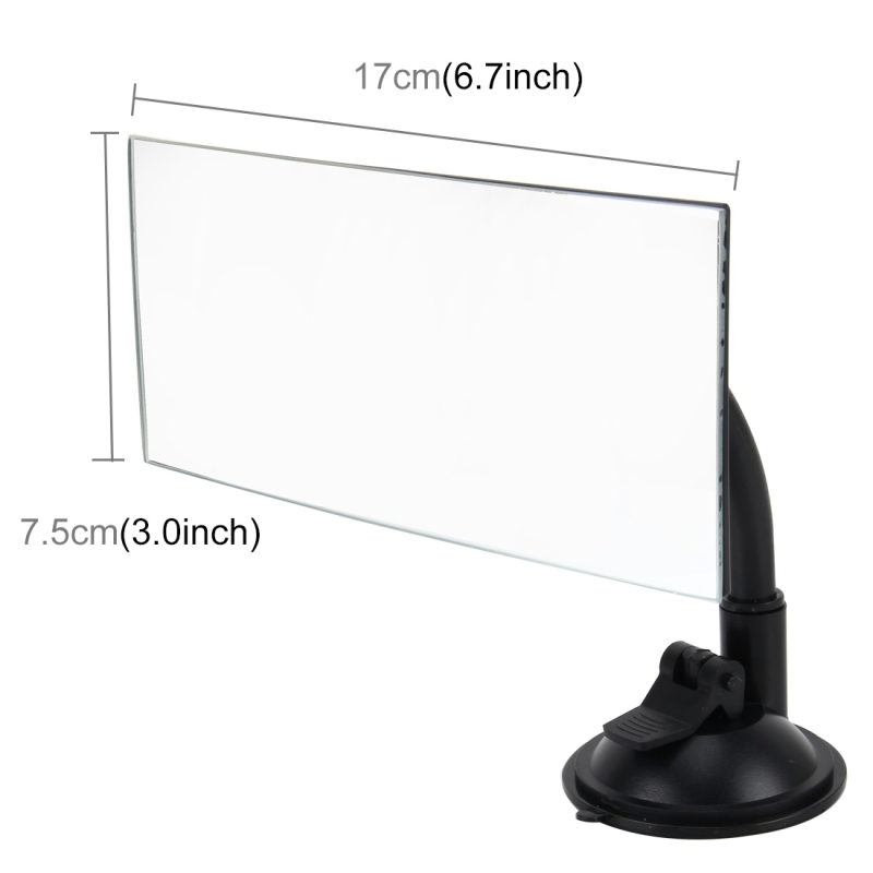 car auto 360 degree adjustable interior windshield rectangular blind spot mirror with sucking. Black Bedroom Furniture Sets. Home Design Ideas