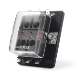 Universal 6 Way Fuse Box Block Fuse Holder Box Car Vehicle Circuit Automotive Blade Tool 6 Way Fuse Block, DC 10V-32V