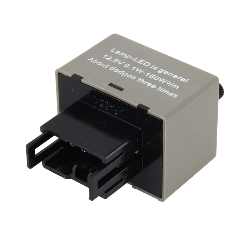 Auto Car-styling DC 12V 8-Pin LED Turn Signal Adjustable Frequency Car Flasher Relay Fix Hyper Flash General Lamp-LED Light Relay for Honda and Lexus