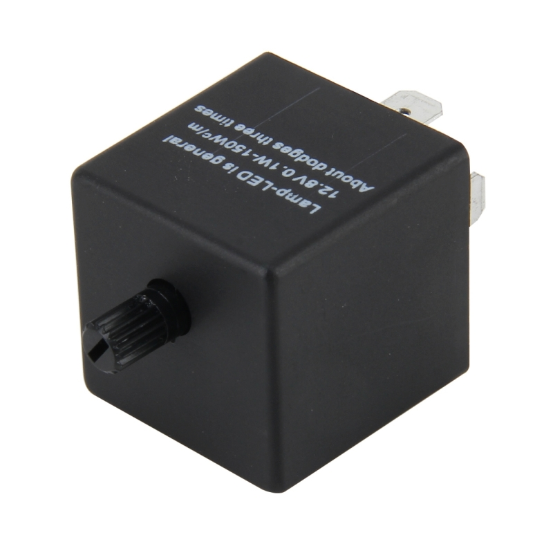 CF13 JL-02 Flasher for LED Auto Car-styling 3-Pin LED Turn Signal Adjustable Frequency Car Flasher Relay Fix Hyper Flash General Lamp-LED Light Relay for Japanese Car