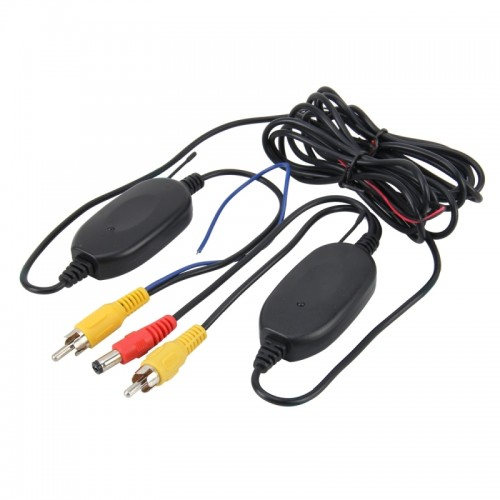 2 PCS 2370MHZ Transmit / Receive Frequency Portable Navigation Wireless Rear View System Wireless Video Transmitter Receiver for Car Rear View Backup Camera Car Back View Monitor System