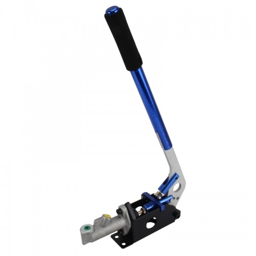 Racing Hydraulic Drift Handbrake Vertical Lever with Long Handle Locking Device Brake Hydraulic Drift Brake Hand Hydraulic Drift Drive Brake Drift Racing Car Modification (Blue)