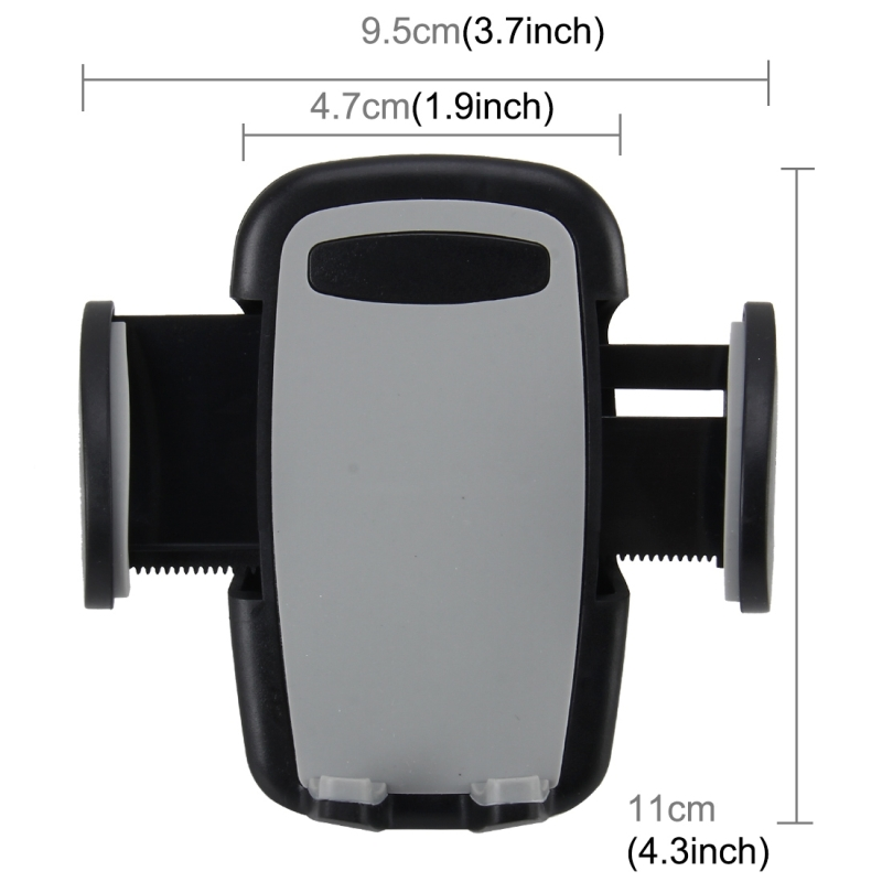 Universal Phone Holder Stand Mount, Clip Width: 47-95mm, For iPhone, Samsung, LG, Nokia, HTC, Huawei, and other Smartphones (Grey)