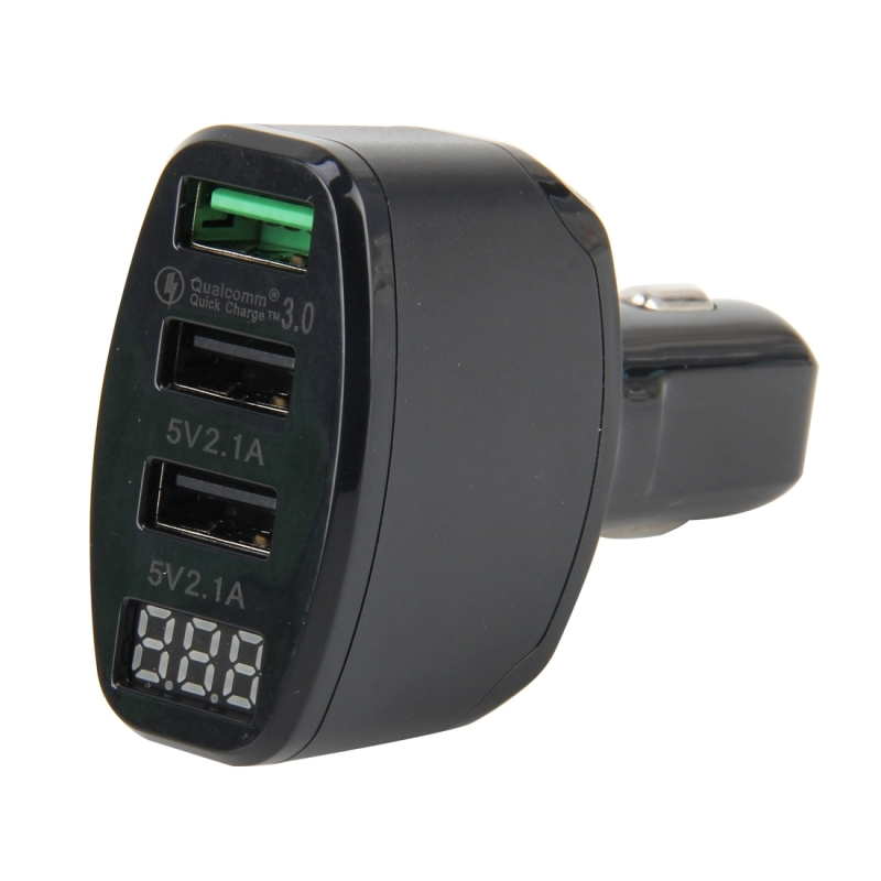 Car Charger 2.1A DC 5V Car 12V-24V Car Charger USB 3.0 Fast Charge Quick Charge (Black)