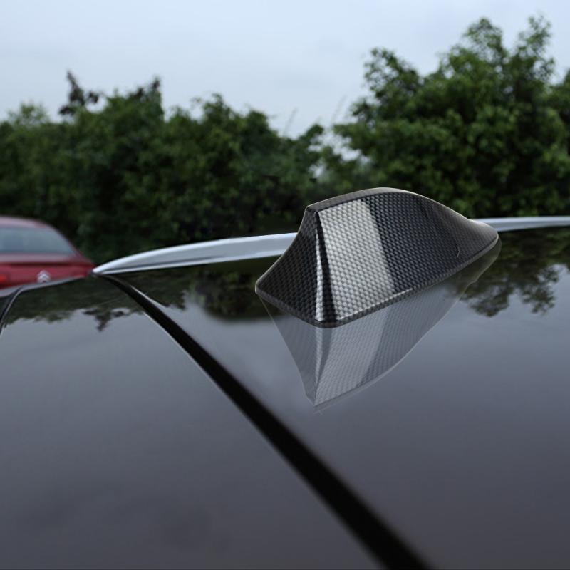 Universal Car Carbon lead Material Antenna Aerial Shark Fin Radio Signal Auto SUV Truck Van Roof Shark Fin Antenna Radio Signal Aerial with Radio Function