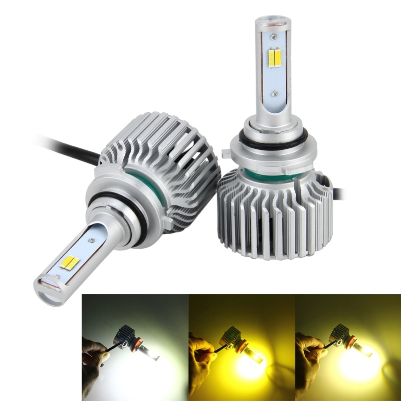 2 PCS 9005 26W 2250LM Car Headlight LED Auto Light Built-in CANBUS Function (White Light, Yellow Light, Warm White Light), DC 9-16V