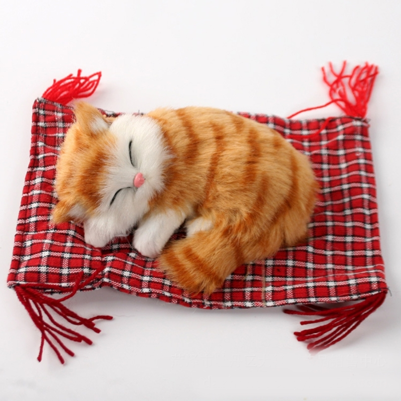 7ed031e9f150 Lovely Simulation Animal Doll Plush Sleeping Cats Toy Cat Mat Doll  Decorations Stuffed Toys Car Decoration · CMS4172D_1.jpg · CMS4172D.jpg ...