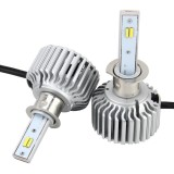 2 PCS H3 26W 2250LM Car Headlight LED Auto Light Built-in COB LED Chip and CANBUS Function (White Light, Yellow Light, Warm White Light), DC 9-16V