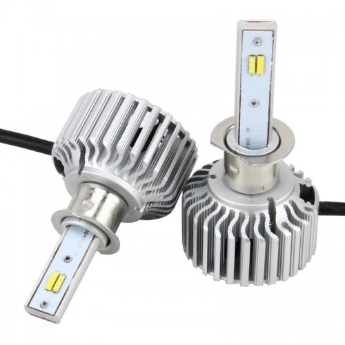 2 PCS H3 26W 2250LM Car Headlight LED Auto Light Built-in COB LED Chip and CANBUS Function (White Light, Yellow Light, Warm White Light), DC 9-16V
